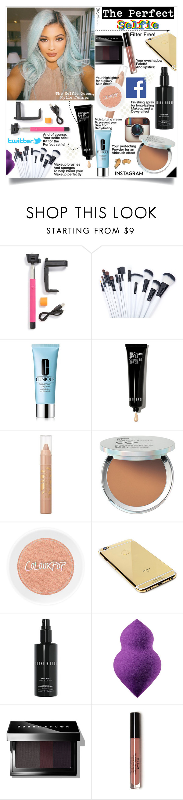 """The Perfect Selfie Makeup Look"" by chocolate-addicted-angel ❤ liked on Polyvore featuring beauty, Clinique, Bobbi Brown Cosmetics, Barry M, It Cosmetics, Goldgenie and Sephora Collection"