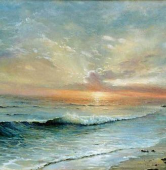 """Alexander Sarychev (Russe, b.1961) ~ """"Après la tempête"""", 2002 (Détail) ~ Huile sur Toile"""