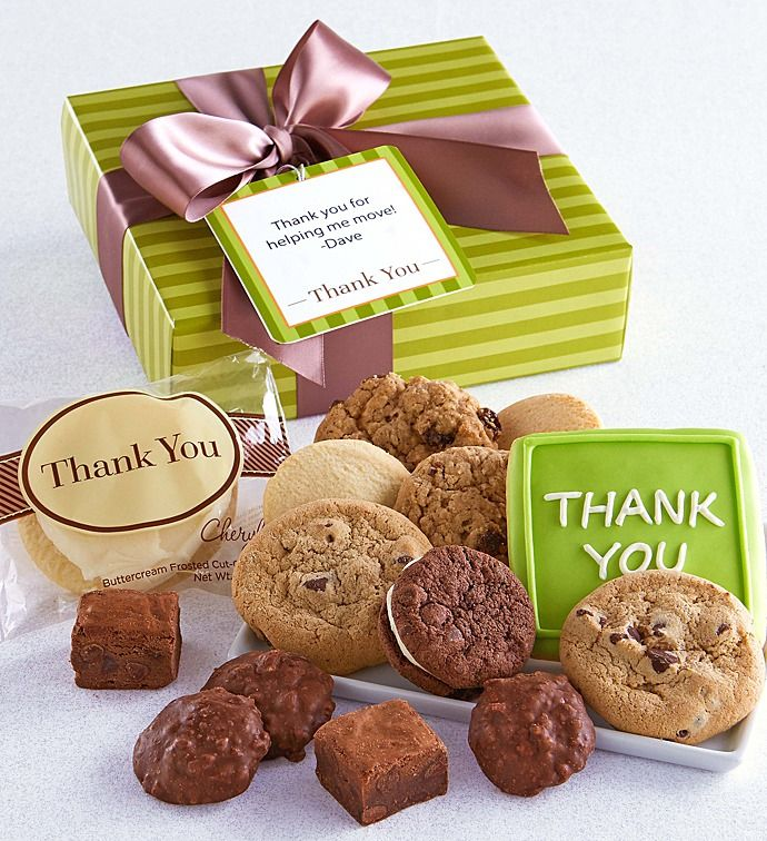 Thank You Treats Gift Box Personalized Gifts Cherylscom Send