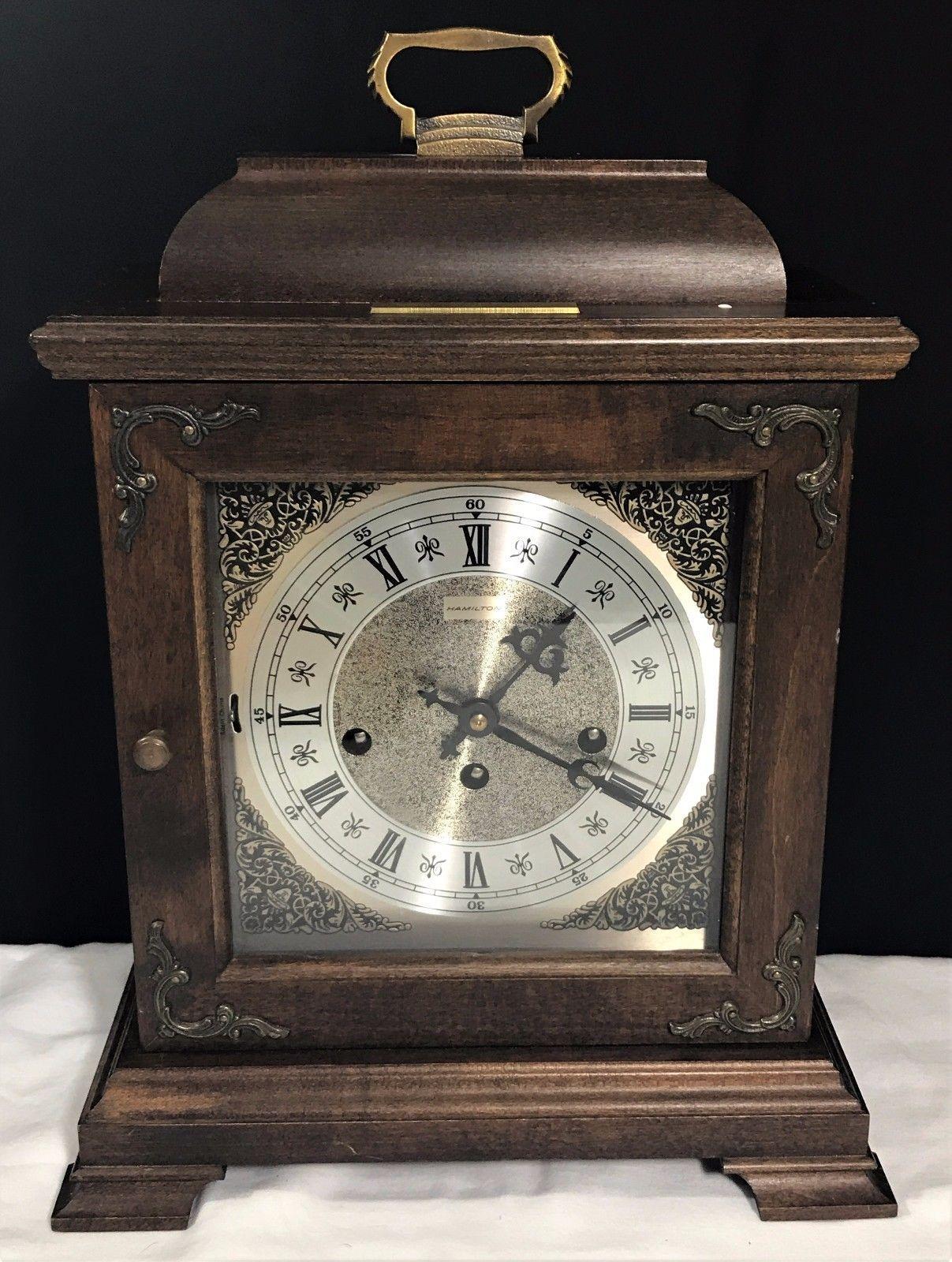 Hamilton Wheatland Westminster Chime Key Wound Mantel Clock