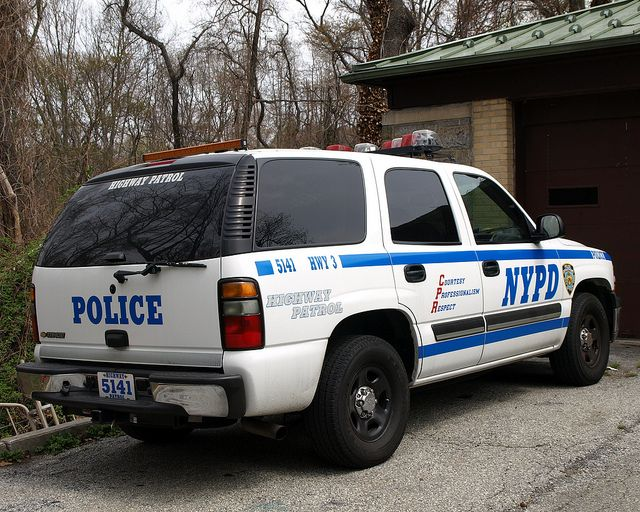 Nypd Highway Patrol Unit 3 Chevy Tahoe Police Car Queens New