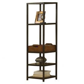 Pairing industrial charm with modern intrigue, this stylish display stand features 4 ample shelves for books and decor.