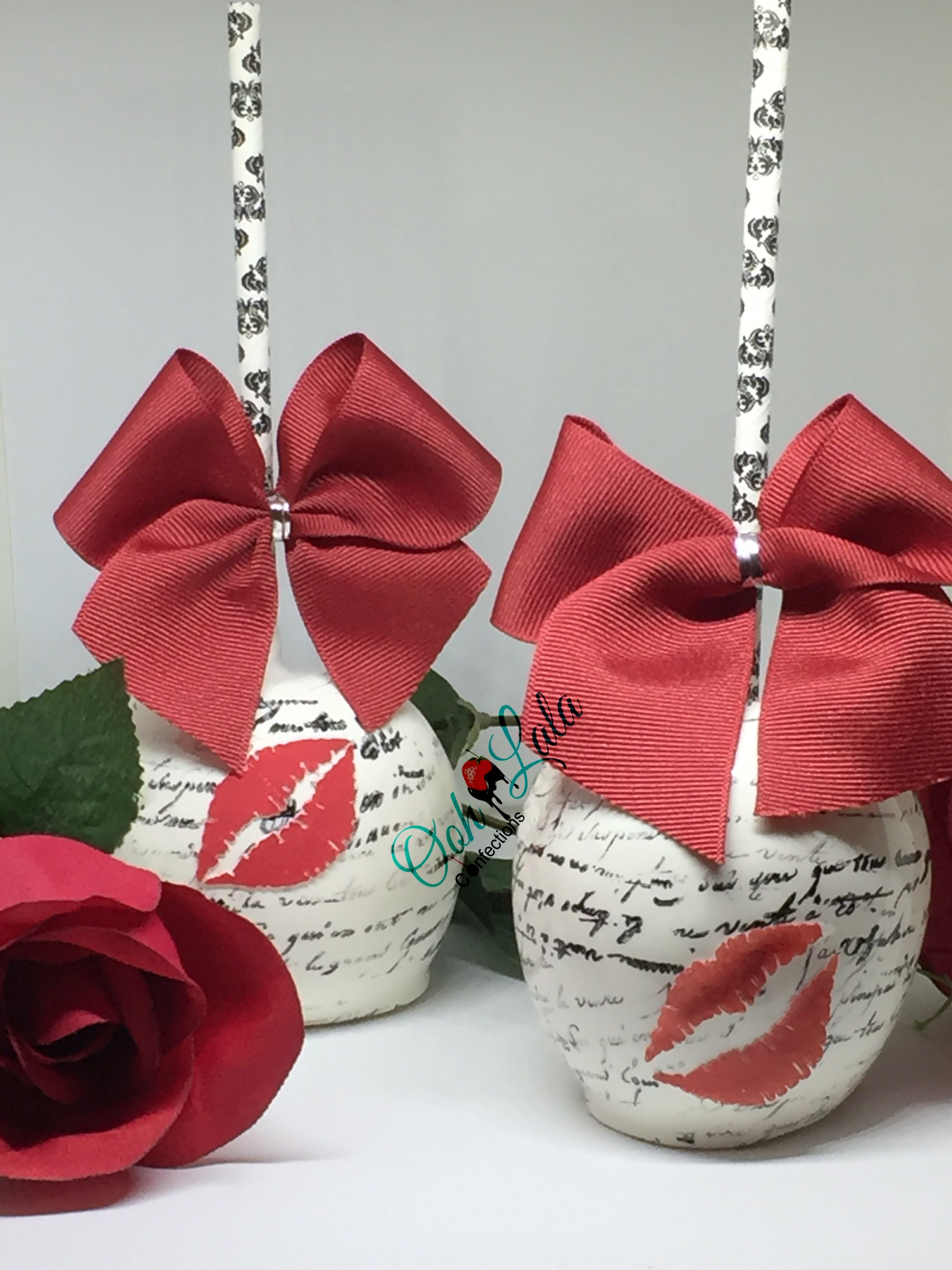 Valentine S Day Candy Apples Sealed With A Kiss Ooh Lala