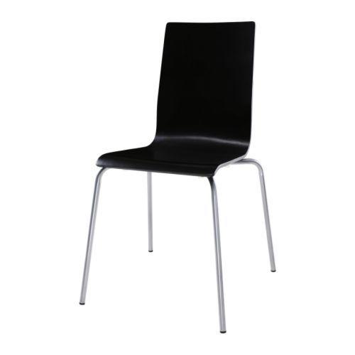 Konferenzstuhl ikea  MARTIN Stuhl, silberfarben, schwarz | Stühle stapelbar, Ikea und Stuhl