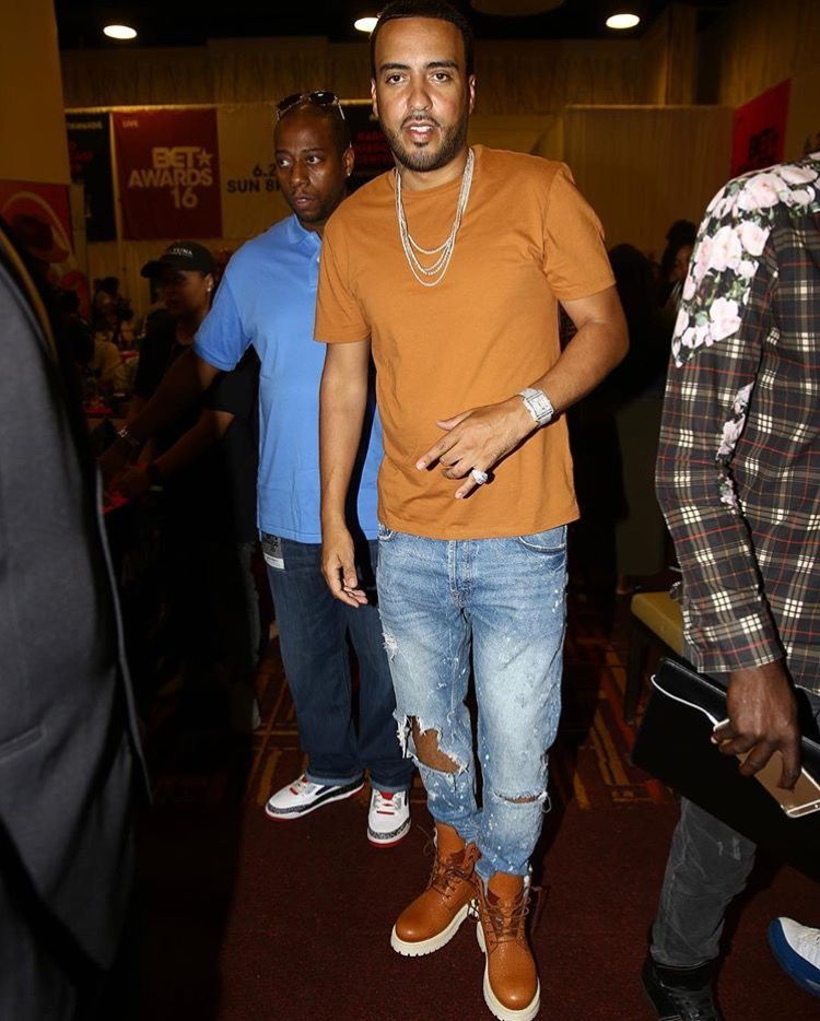 French Montana in BUSCEMI Site Boots in