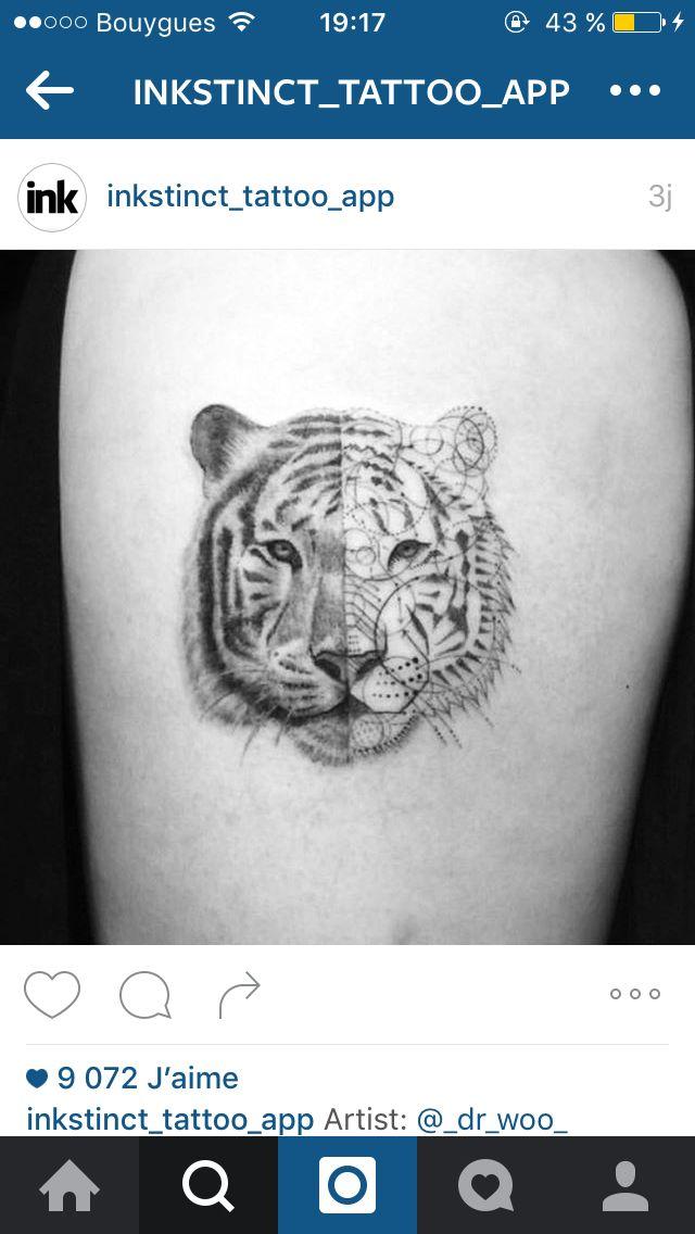 Tatouage Tigre Tattoo Tattoo Ideen Autobeschriftung Et Beschriftung