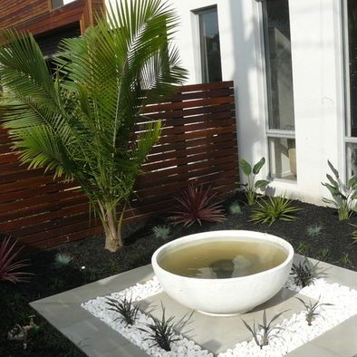 Tropical front yard design pictures remodel decor and for Front yard renovation ideas