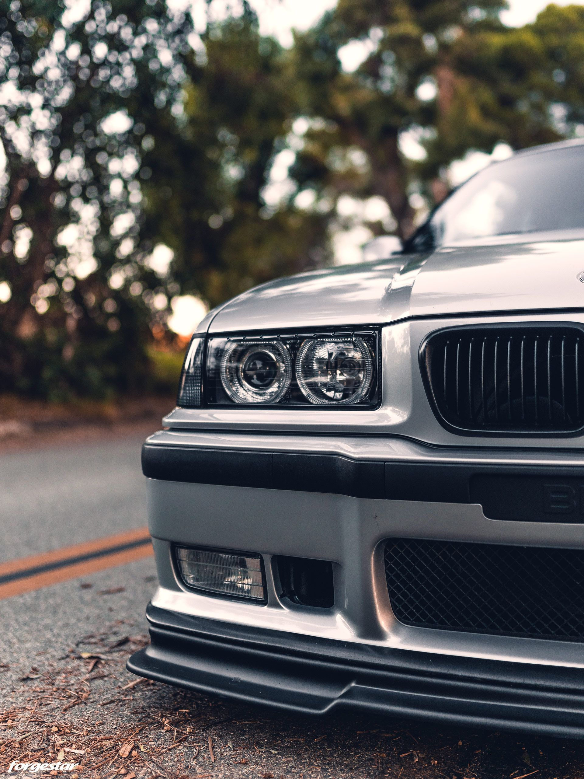 Clean Artic Silver Bmw E36 M3 With Aftermarket Mods And Wheels Bmw E36 M3 Bmw E36 Bmw