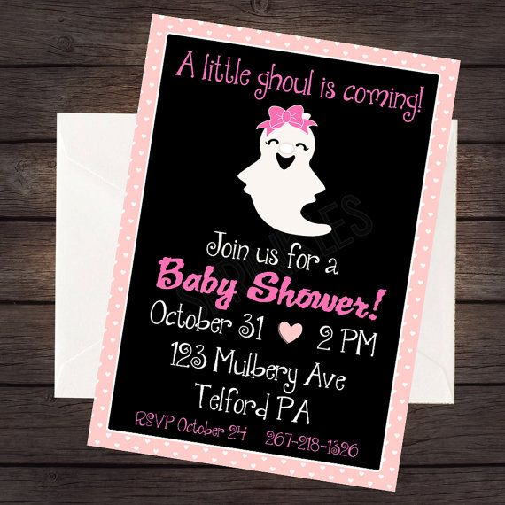 Halloween Baby Shower Invitation Digital Invitation File Baby - Halloween baby shower invitations
