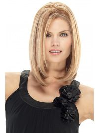 Beautiful Blonde Monofilament Shoulder Length Synthetic Wigs Gallery
