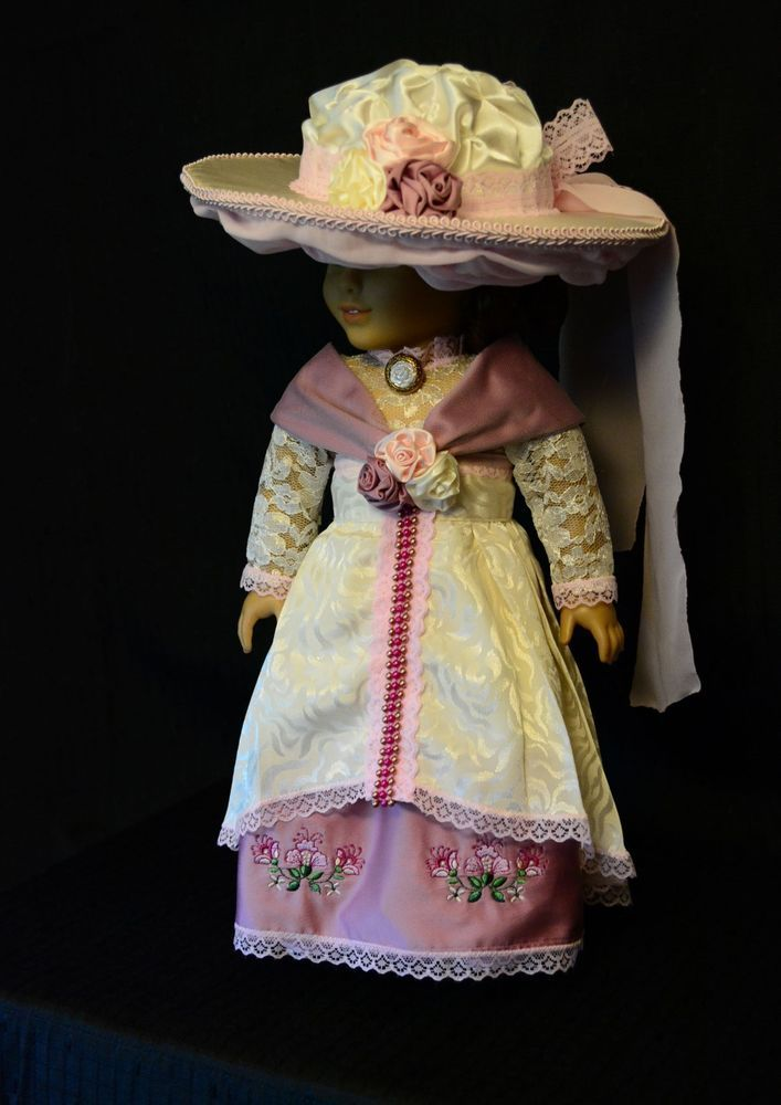 Victorian Tea Dress For 18 in American Girl Doll Clothes