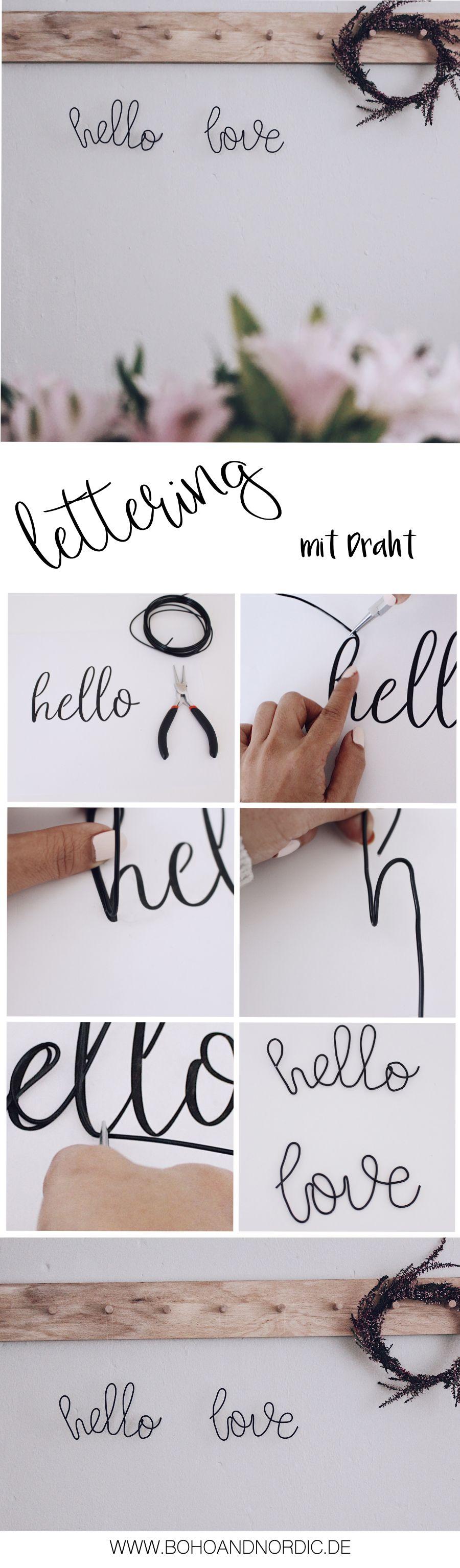 Lettering mit Draht + Freebie 4 verschiedene Vorlagen | Pinterest ...