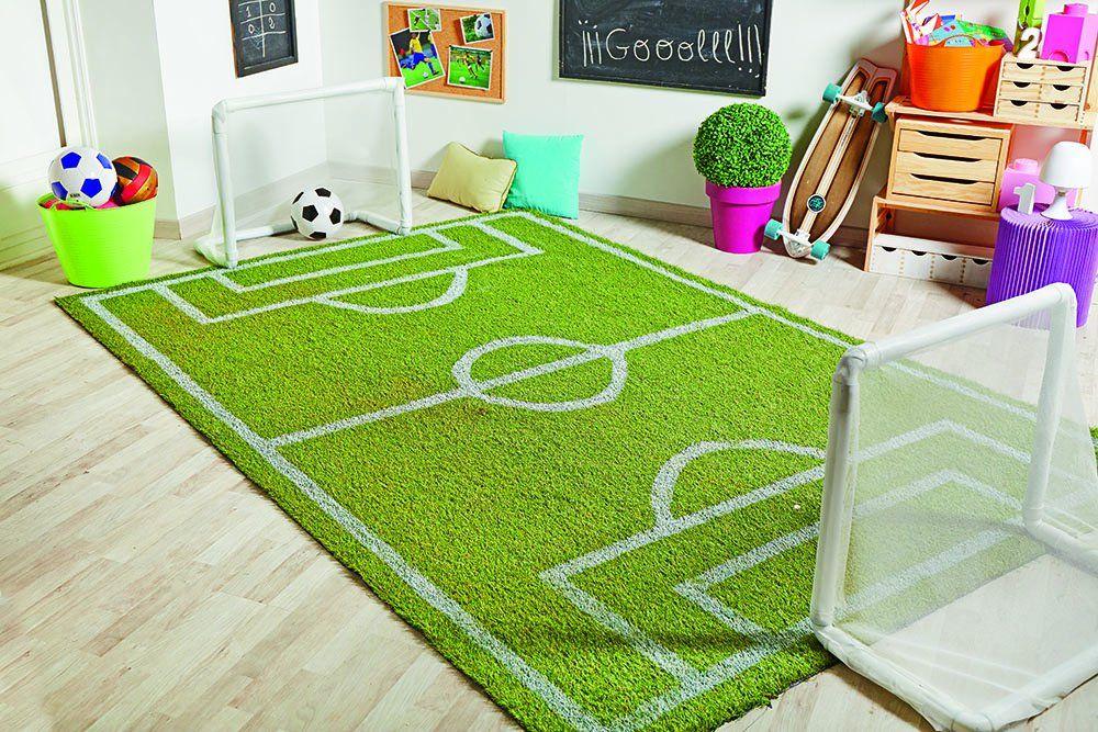 Alfombra Infantil Juego para Dormitorio Niños Diseño Campo