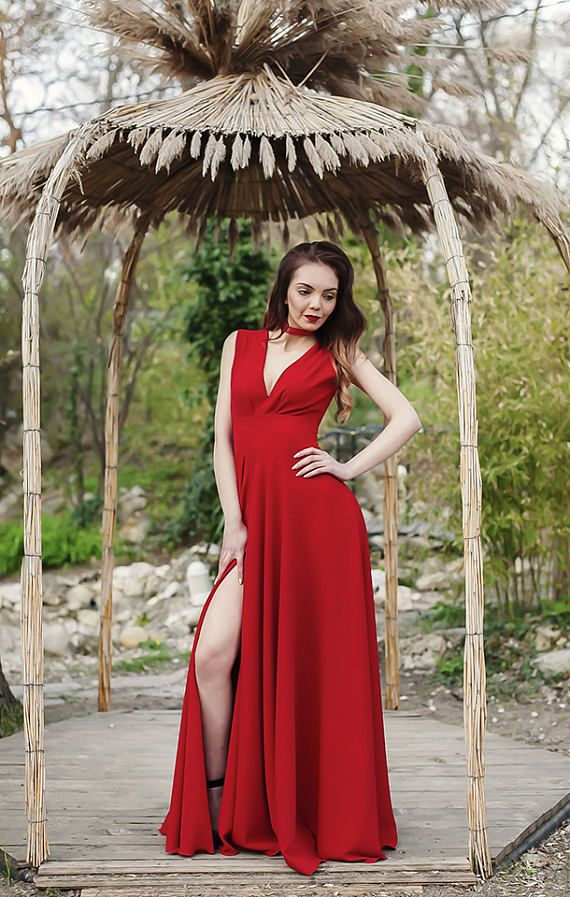 Red Dress / Dress / Prom Dress / Womens Dress / Maxi Dress / Long ...