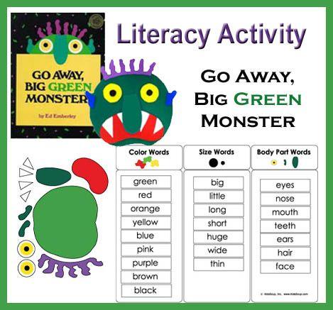 Go Away Big Green Monster Felt Story Big Green Monster Green