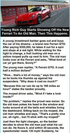 Ferrari and Old Man.