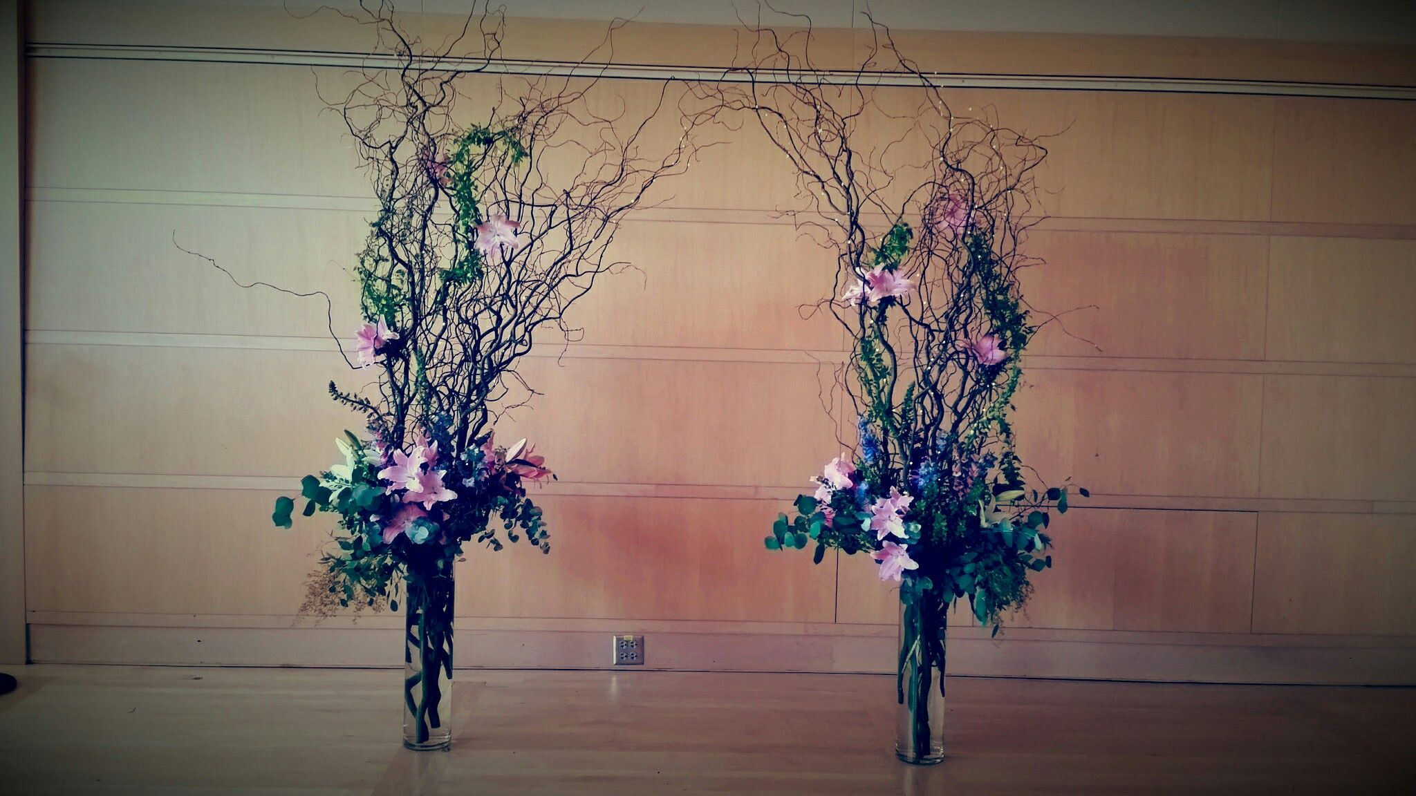 New Wedding Arch Curly Willow Arrangements Wedding Arch Flower Corsage Curly Willow