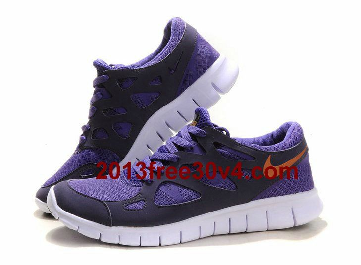 new arrivals 49092 0a623 RQ1022 Mens Nike Free Run 2 Purple Gold White  Purple  Womens  Sneakers