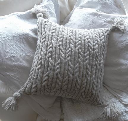 Aran Trellis Cable Cushionpillow Yarn Knitting Crochet