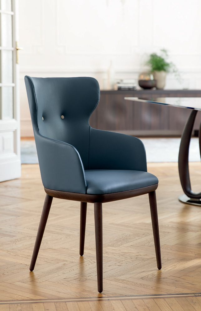 Transitional Italian Designer Andy Armchair Upholstered Italian Designer Luxury Furniture At Cassoni Co Dining Chairs Italian Furniture Dining Room Chairs