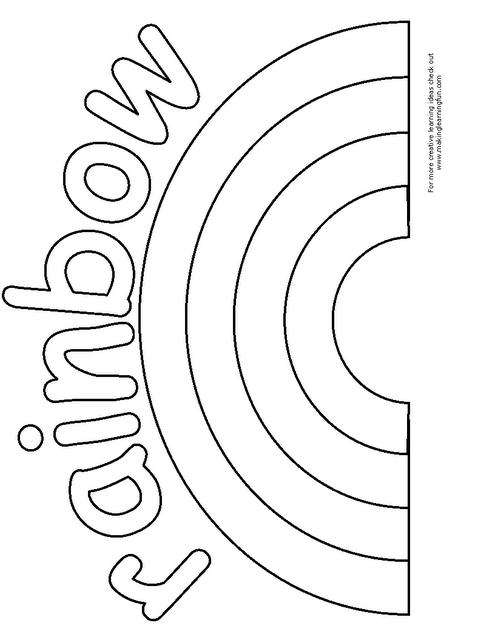 rainbow template | Rainbow crafts preschool, Rainbow ...