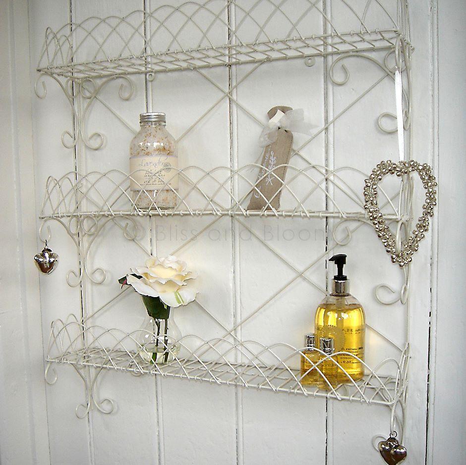 White Wire Wall Rack Shelf Bliss And Bloom Ltd Rack Shelf Wall Racks Shelves