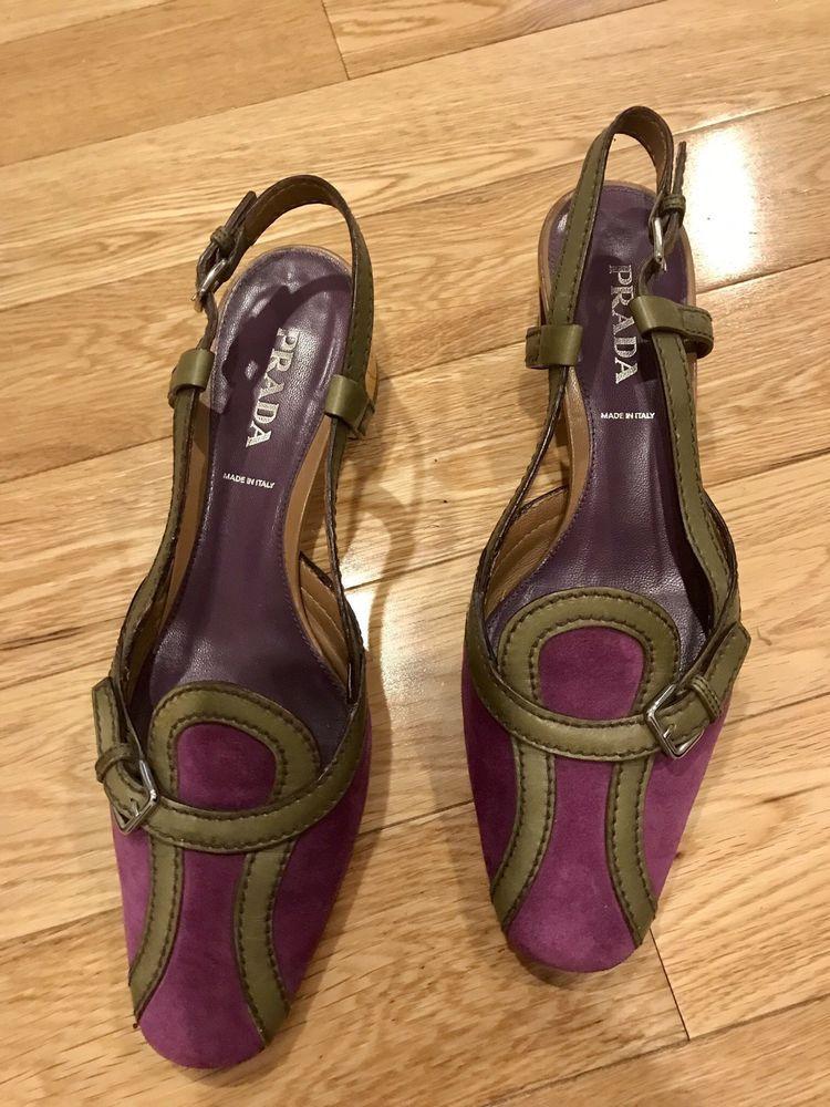 42359f2f64693 Prada sandals 38.5 US 8 Purple/green/yellow Women #fashion #clothing ...
