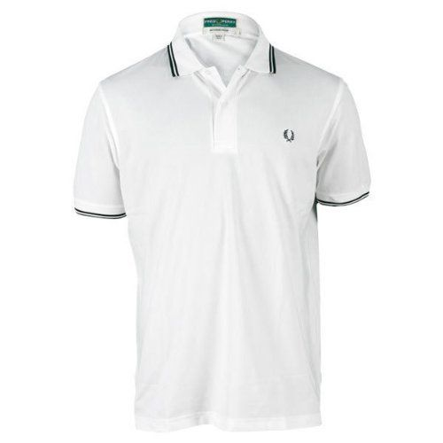 Fred Perry Men`s Performance Tennis Shirt Small White by Fred Perry. $74.00. The Fred Perry Mens Performance Tennis Shirt features a classic polo silhouette for a stylish look and a great fit Stay cool dry and comfortable with Activair performance fabric designed to wick moisture from the skin to the surface of the fabric for quick evaporation This pique polo features tipped ribbed cuffs and collar with twobutton placket Fred Perry laurel wreath logo embroidered at left ches...