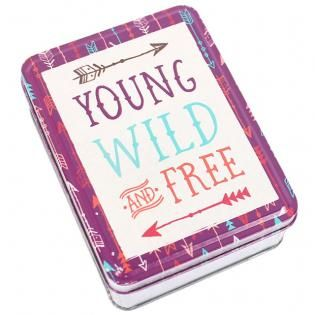 Wholesale Young,wild & free tin - Something Different