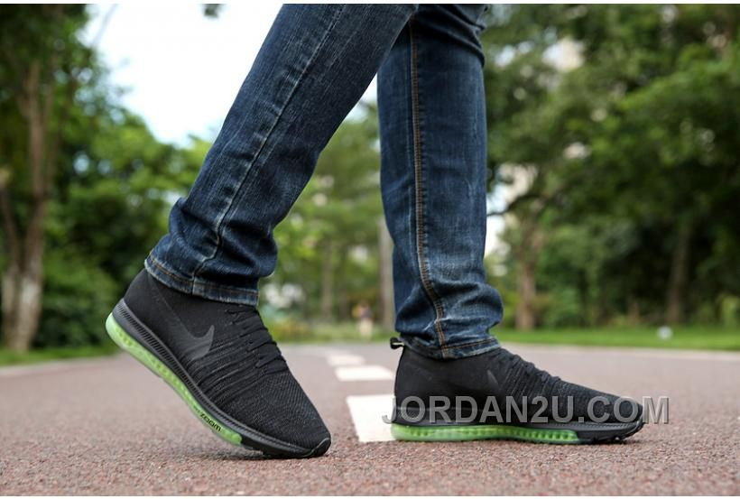 Nike Zoom All Out Flynit Noir Vert Men Chaussures nike zoom all out