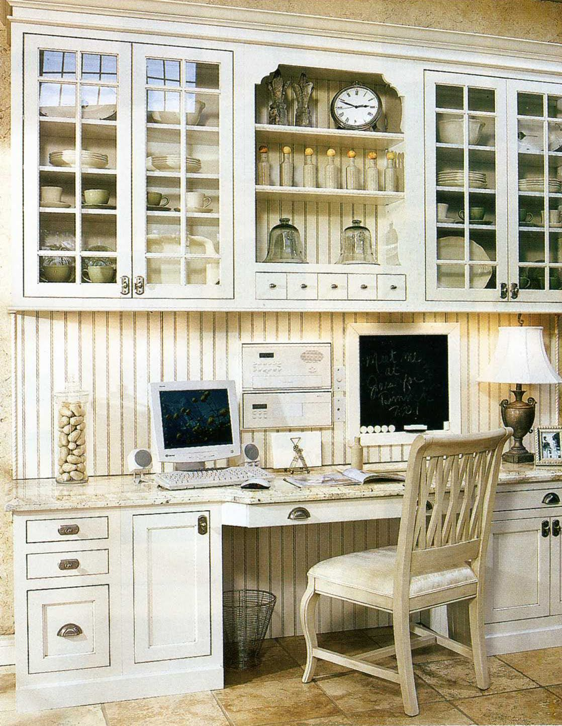 White Kitchen Inspiration 49, Home Office & Fireplace  White