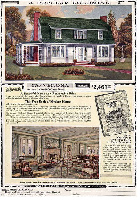 1919 ad for sears verona by american vintage home via flickr - 1919 House Plans