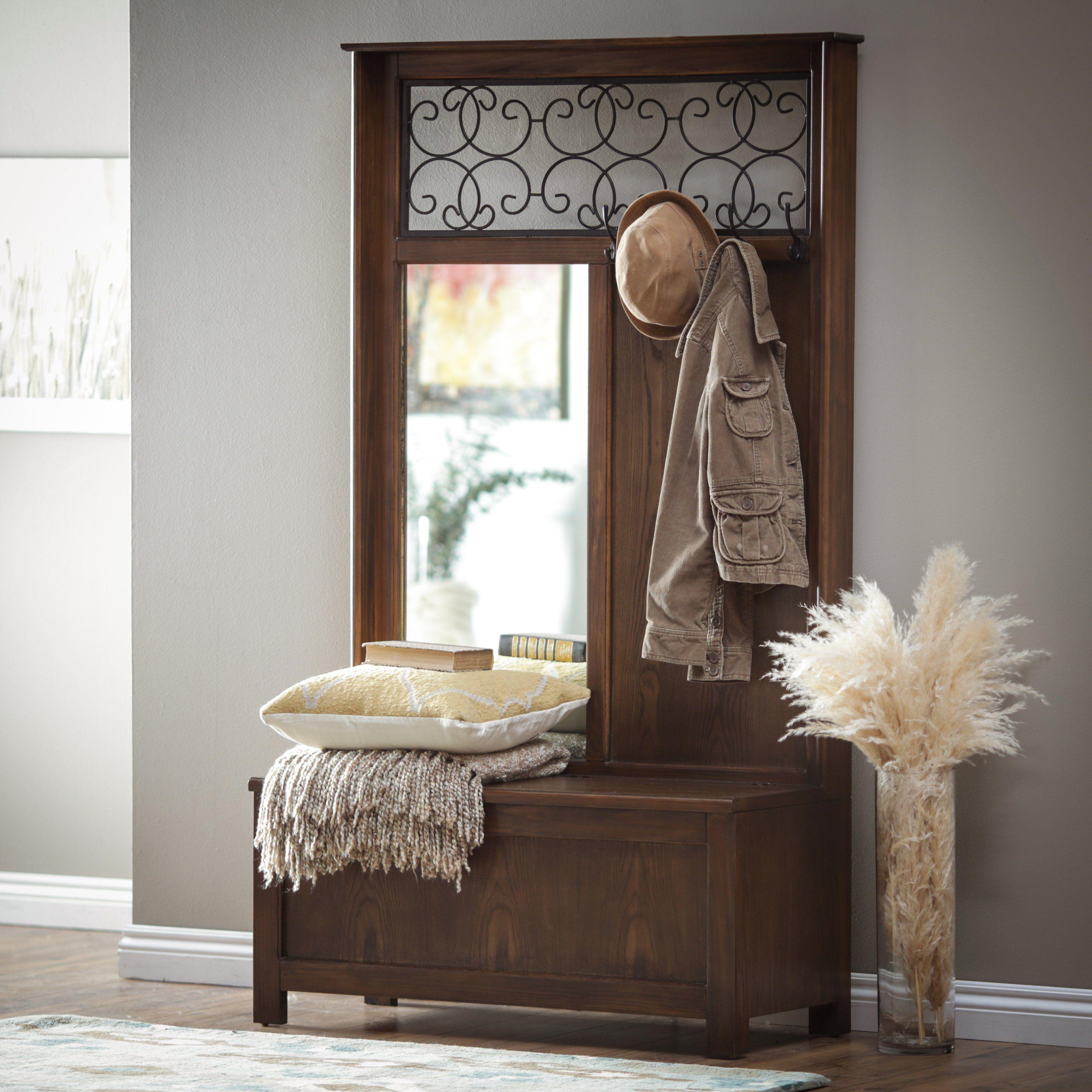 Elegant Foyer Furniture: Elegant Hall Tree Offers Compact