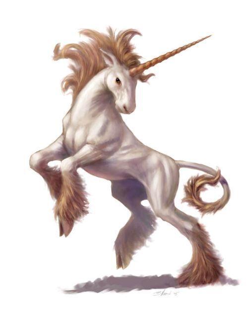 Golden Unicorn With Images Mythical Animal Unicorn Art Unicorn And Fairies