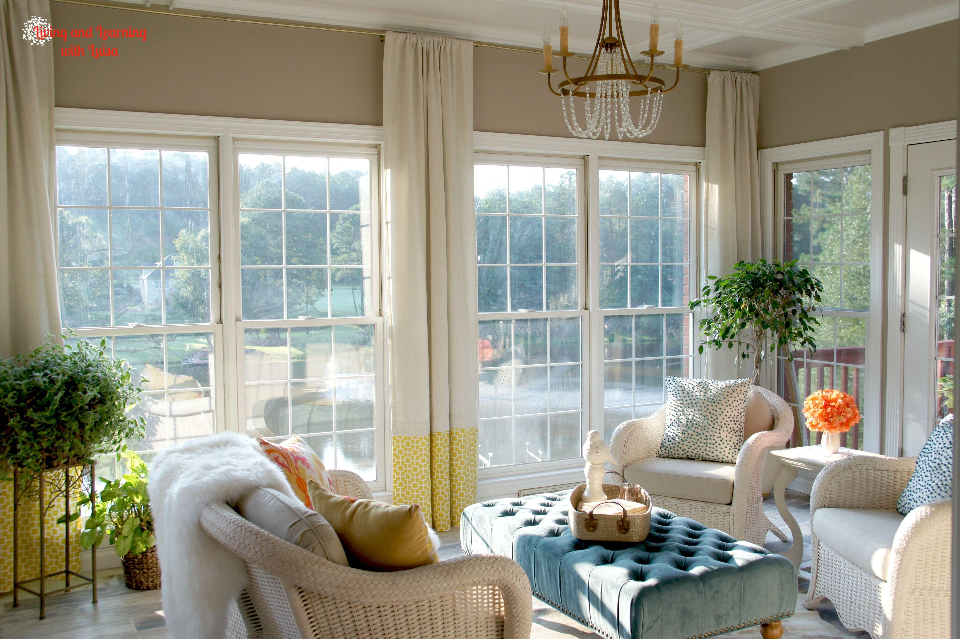 Explore Sunroom Curtains, Sunroom Ideas, and more!