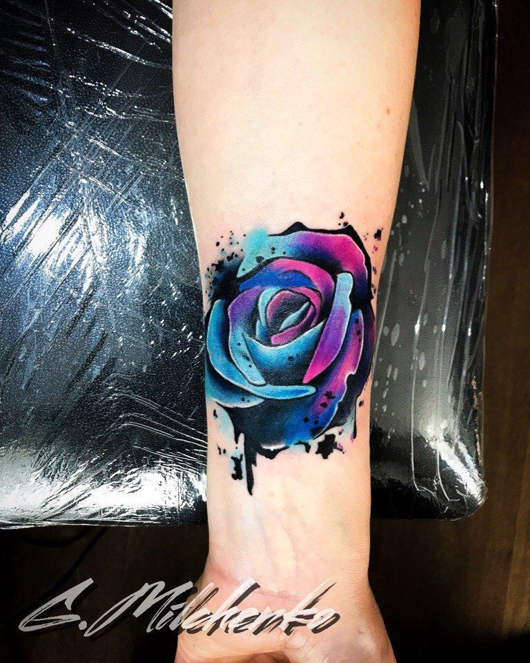 Michelle Maddison On Instagram Made A Space Galaxy Rose Today Thanks Bex Space Galaxy Rose Killerink Stencilstuff Galaxy Tattoo Tattoos Rose Tattoos