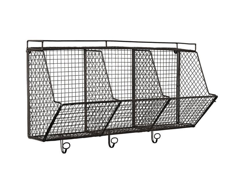 3 Cubby Wire Wall Organizer - Gardener's Supply Company