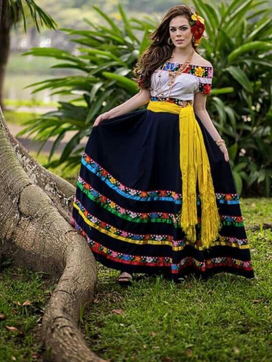 Traje Regional Tabasco Vestidos Mexicanos Tradicionales