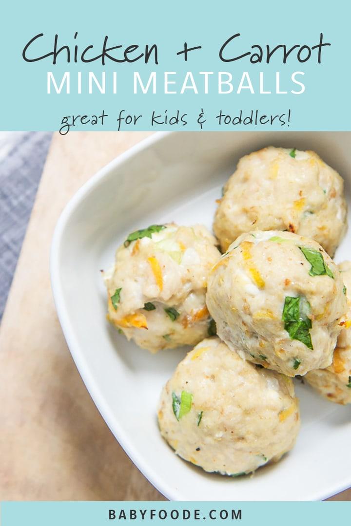 Mini Chicken + Carrot Meatballs für Baby   - Baby & Toddler Food - #Baby #Carrot #Chicken #Food #für #Meatballs #Mini #Toddler