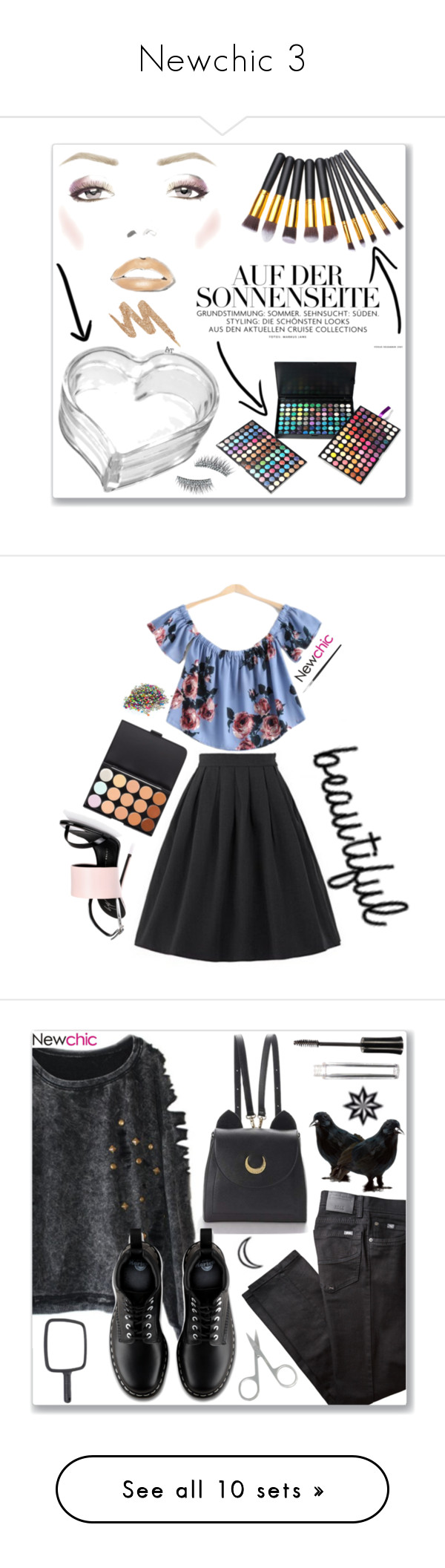 """""""Newchic 3"""" by abecic ❤ liked on Polyvore featuring newchic, beauty, Urban Decay, Kre-at Beauty, Giuseppe Zanotti, BRAX, WithChic, Dr. Martens, Topshop and Chi Chi"""