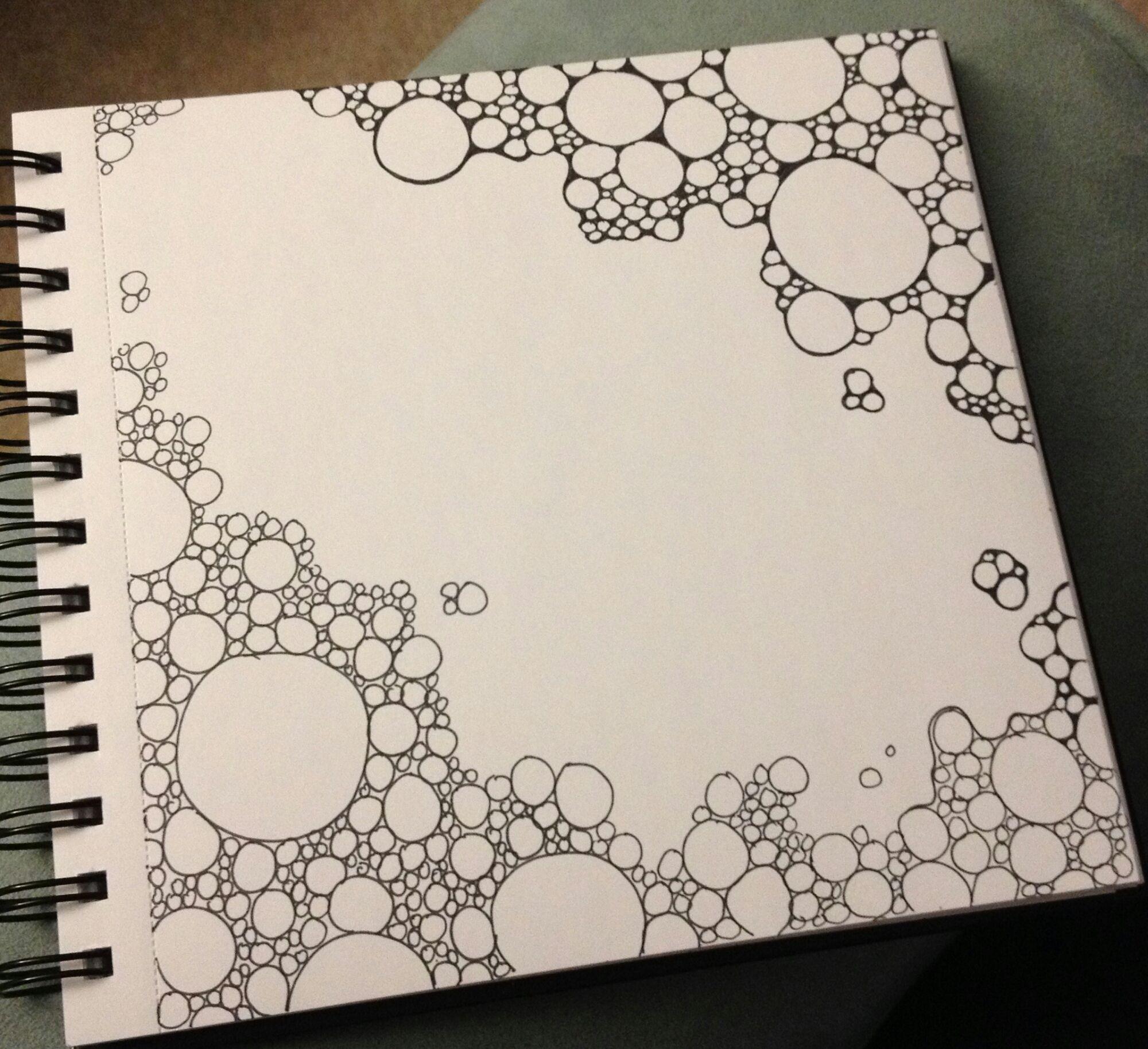 Easy Doodle Art Designs : Progress shots of a gravel doodle sharpie drawings