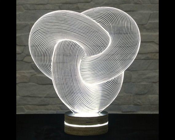 3d Led Lamp Tube Shape Decorative Lamp Home Decor Table Lamp Office Decor Plexiglass Art Art Deco Lamp Acrylic Night Lamp Decor 3d Led Lamp Lamp Design