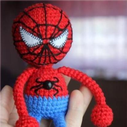 Spiderman amigurumi patrón de crochet libre | amo el tejido ...