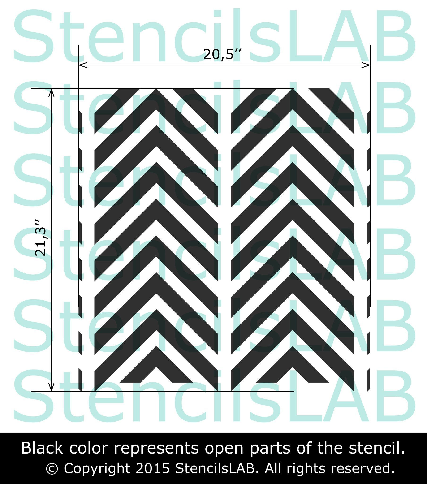 Try Our New All Over, Reusable Geometric Wall Art Stencil For