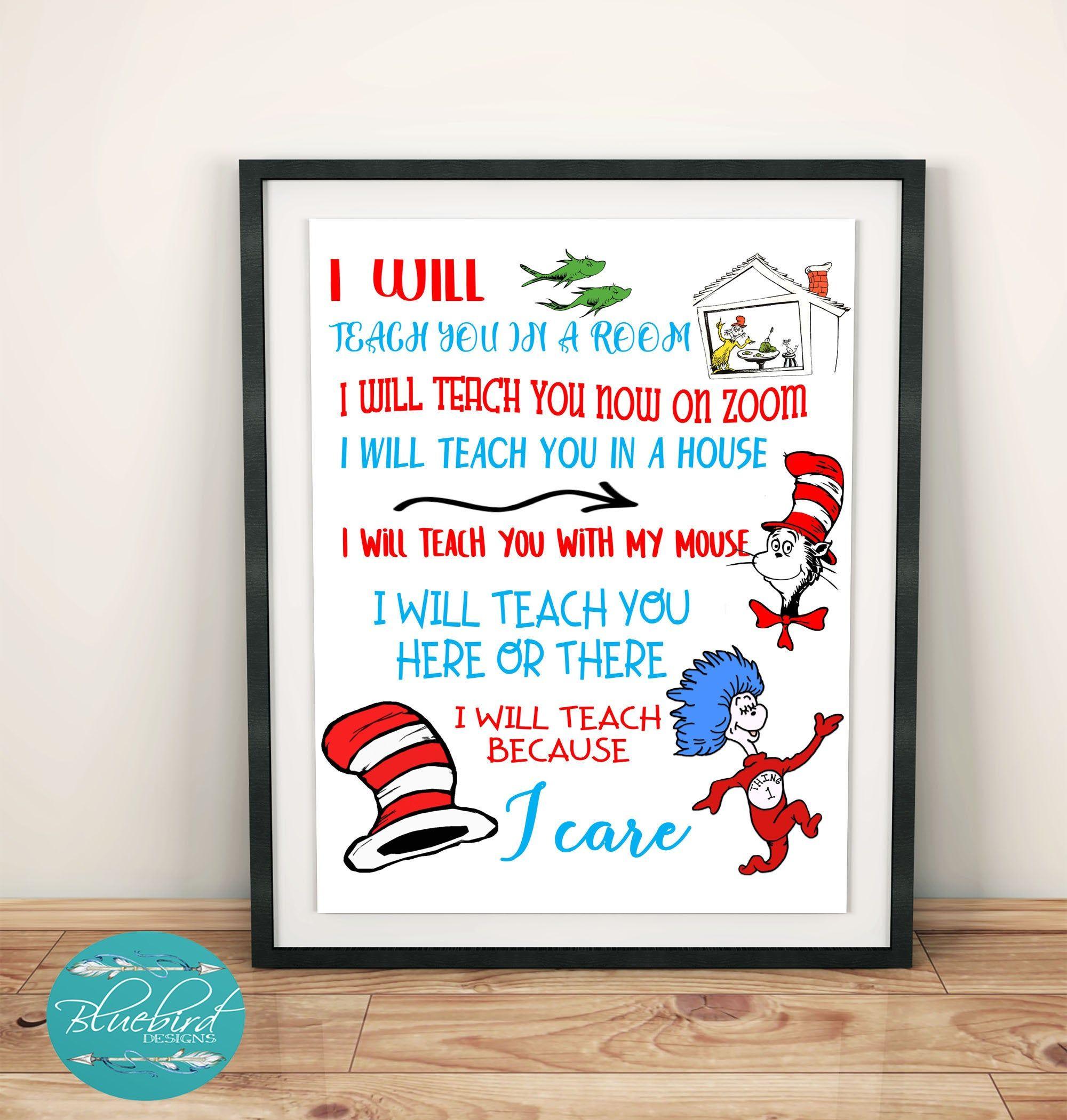 Dr Seuss Teacher Zoom Home Education Thank You Svg Png Jpeg Files Crafts Cricut F Educator Gifts Teacher Signs Dr Seuss Images