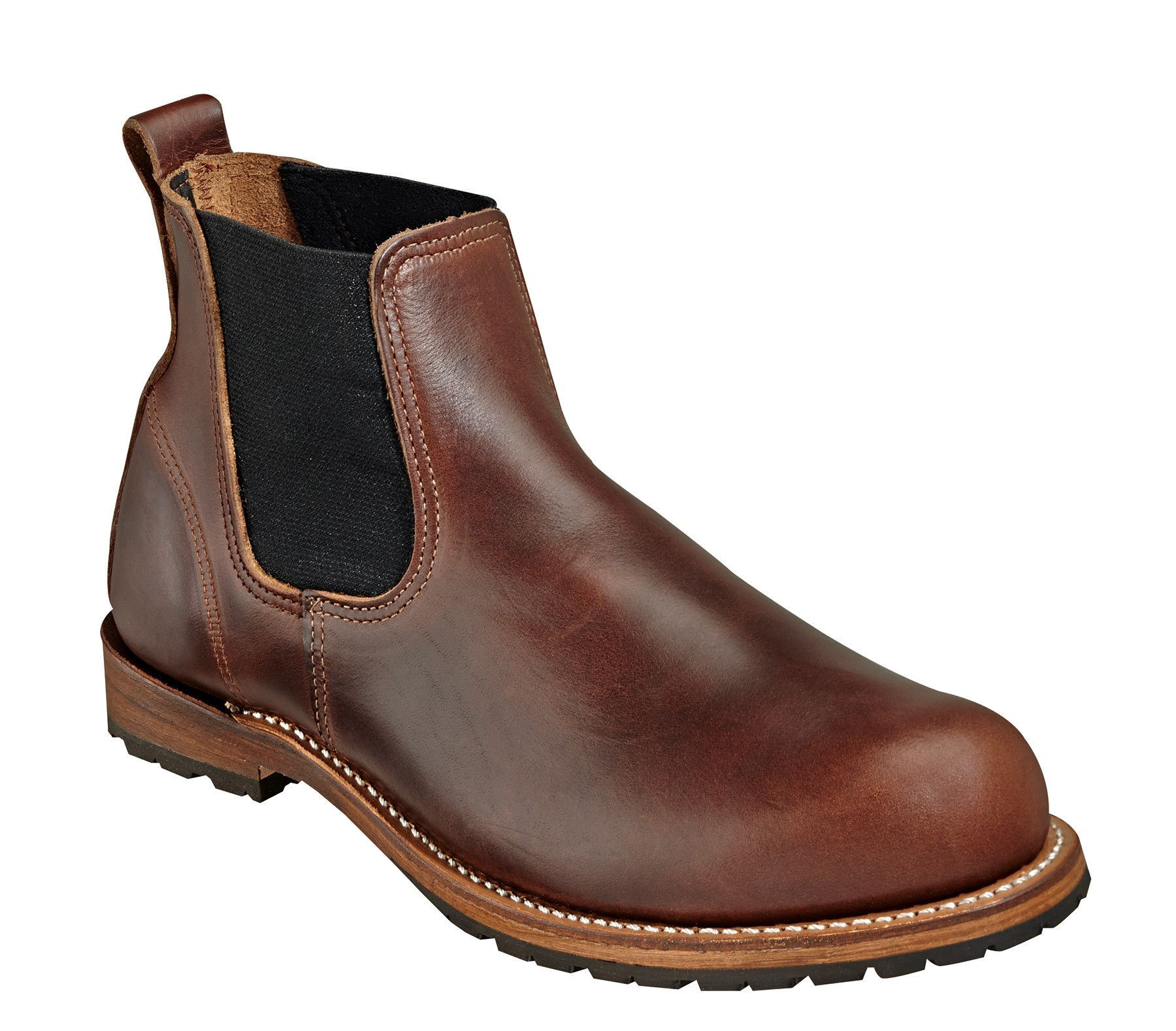 Wood N Stream Mens American Classic Romeo Brown Leather Chelsea Boots