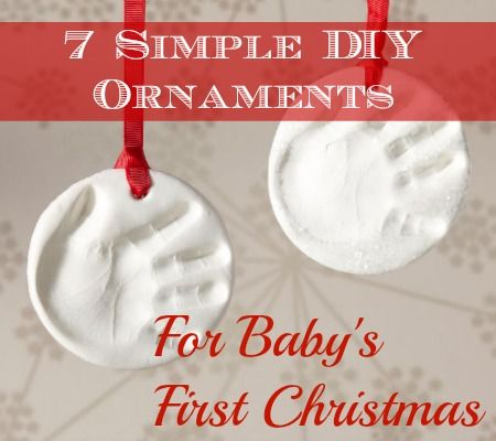 7 simple DIY ornaments to help you commemorate your baby's first Christmas! - 7 Simple DIY Ornaments For Baby's First Christmas Things For My