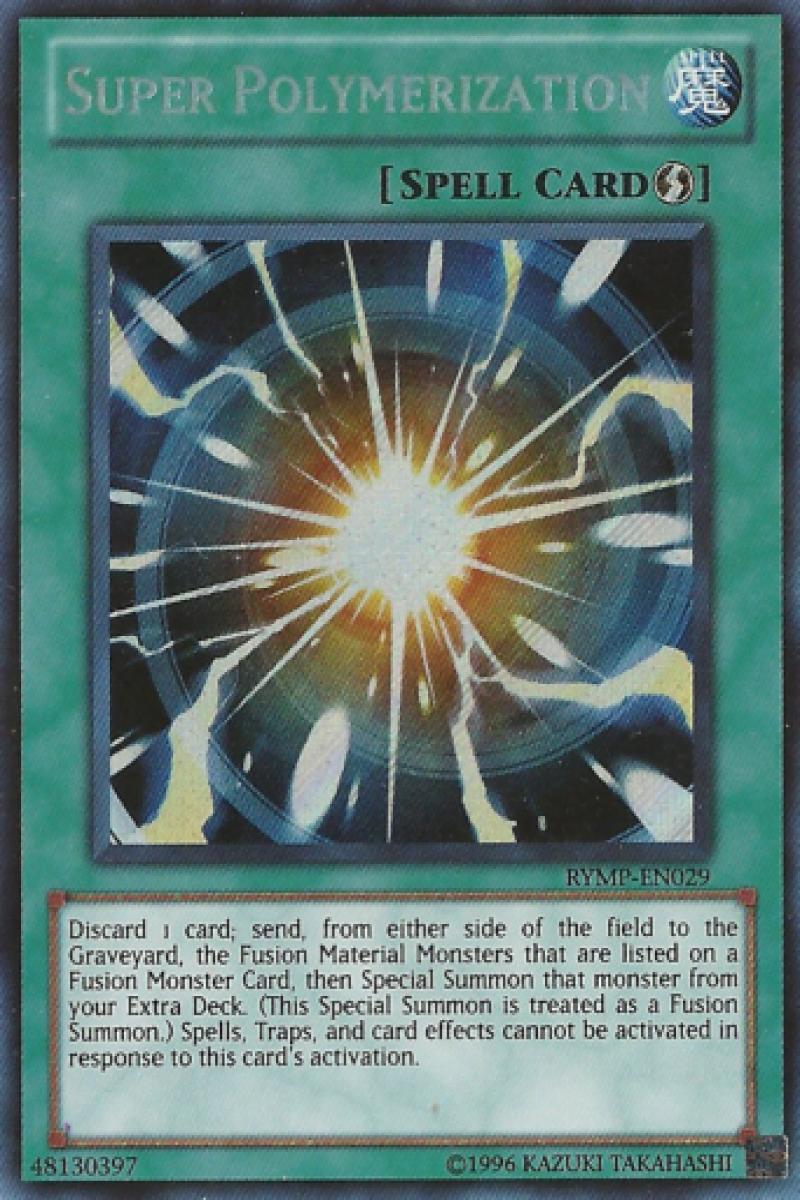 Super Polymerization Secret Rare Rymp En029 Yugioh Mint Nm Yugioh Cards Yugioh Cards
