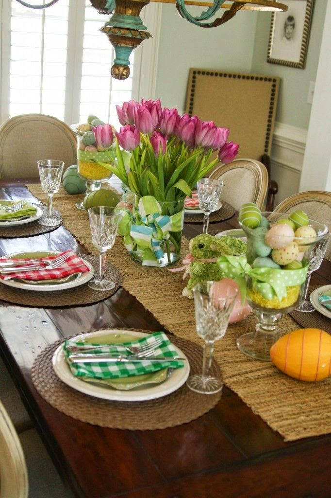 Northern nesting easter tablescape ideas easter pinterest for Easter dinner table decorating ideas