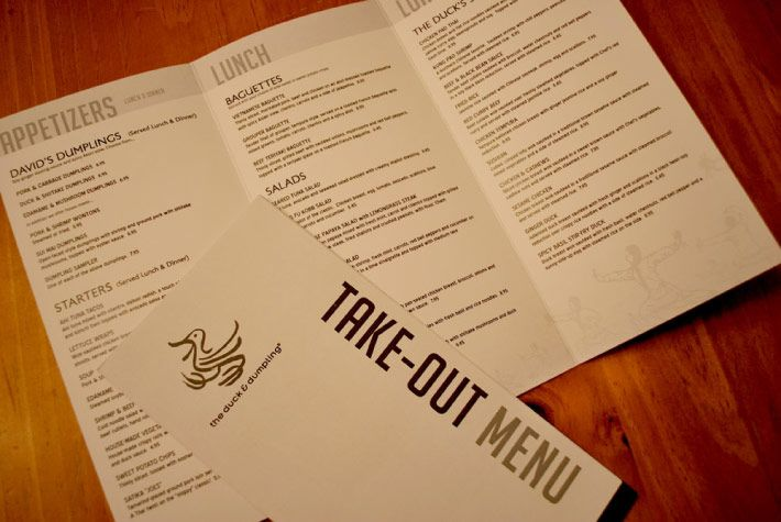 Takeout Menu Design